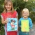 mini mouse and a giraffe parsley pie art club children kids painting classes business jenny bent jpg