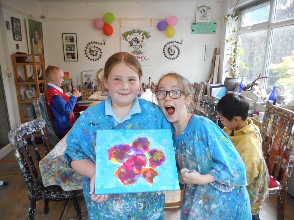 Summer gallery of paintings and art work kid 39 s art for Kids painting class