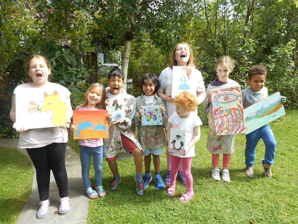 Summer workshops 2016 parsley pie art club for children for Kids painting class