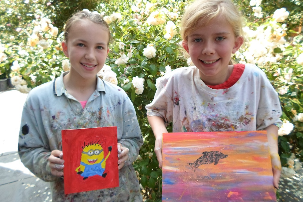 Best of summer 2013 parsley pie art club for Kids painting class