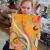 3. Christmas parsley pie kids art club, painting craft classes parties for children hale altrincham cheshire