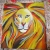 abstract lion painting, parsley pie art club for children kids classes holiday workshops altrincham cheshire