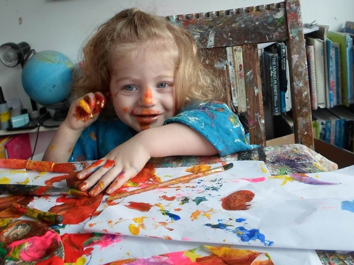 Toddler art messy play parsley pie classes for Craft classes for toddlers