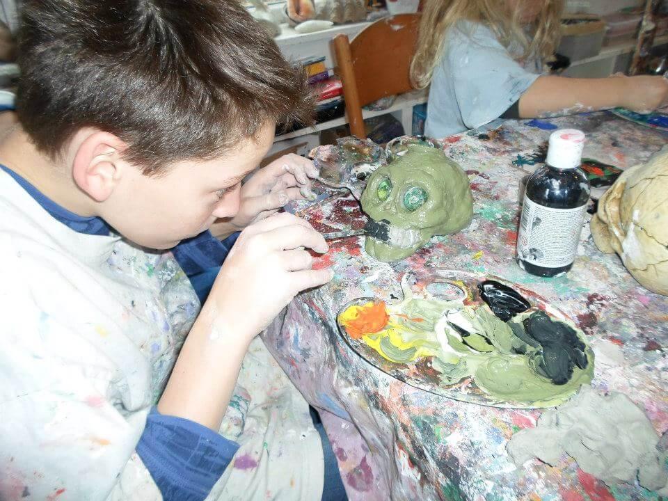 Pie kids art club halloween workshop halloween crafts children 4