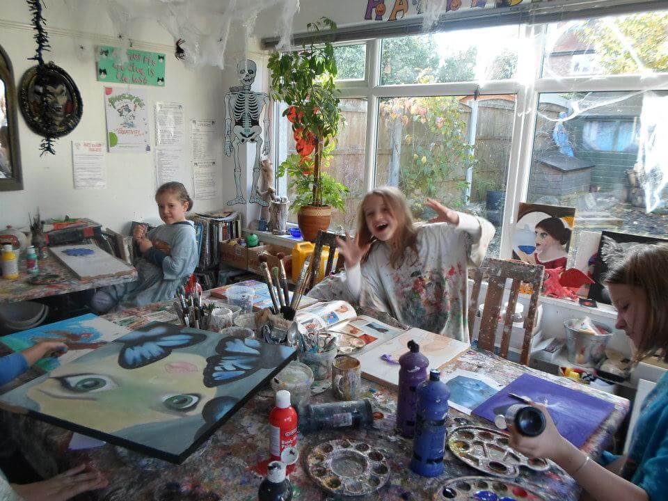 Halloween workshop for kids in cheshire children s art activities
