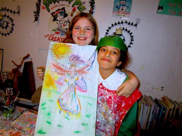 best friends create beautiful fairy picture